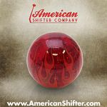 Clear Red Flame Shift Knob with Metal Flake