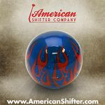 Clear Blue Flame Shift Knob with Metal Flake
