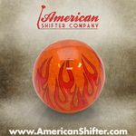 Clear Orange Flame Shift Knob with Metal Flake
