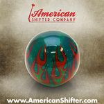 Clear Green Flame Shift Knob with Metal Flake
