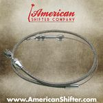 Tuned-Port Throttle Cable - Braided Stainless Steel