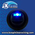 Lever Style LED Round Frame Switch - Blue 20amp / 12vdc