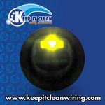 Lever Style LED Round Frame Switch - Yellow  20amp / 12vdc