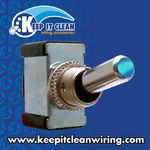 All-Metal Toggle Switch With LED - Blue 20a/12v