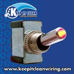 All-Metal Toggle Switch With LED - Red 20a/12v
