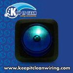 Silver Rocker Switch with Blue Illumination 20a/12vdc