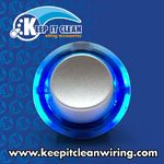 Silver Rocker Switch with Blue Ring Illumination 20a / 12vdc