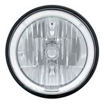 "7"" Crystal Headlight w/ White LED Halo Ring"
