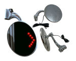 "4"" Peep Mirror with Red LED Turn Signal Arrow"