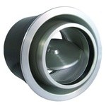 Round Vent Louver, ProLine Rotary Vane Louver - Brushed